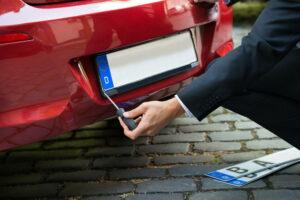 Obstructed License Plate Violation NJ